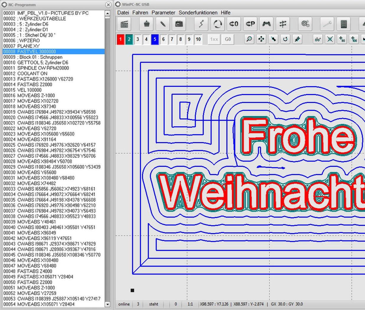 WinPC-NC Professional mit Achscontroller im Standardgehäuse